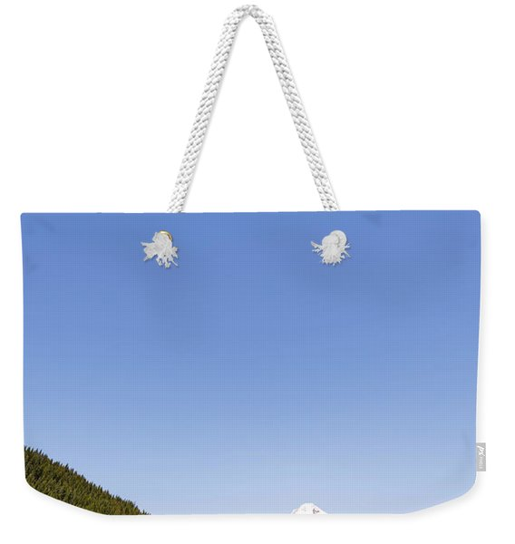 Mt. Hood And Trillium Lake Vertical Weekender Tote Bag