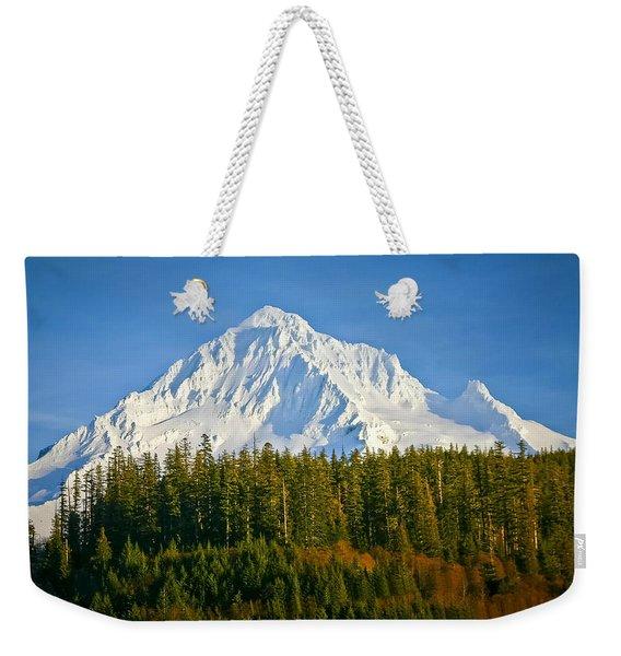 Mt Hood In Winter Weekender Tote Bag