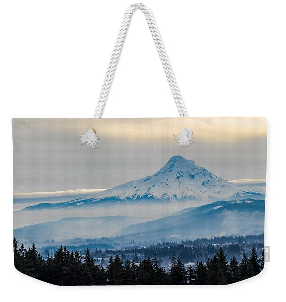 Mt. Hood Over Hood River Weekender Tote Bag