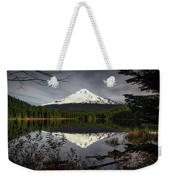Mt Hood Reflection Weekender Tote Bag