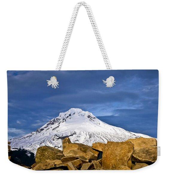 Mt Hood With Talus Weekender Tote Bag