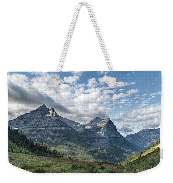 Mt. Oberlin From Logan Pass Weekender Tote Bag