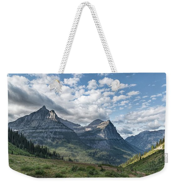 Weekender Tote Bag featuring the photograph Mt. Oberlin From Logan Pass by Jemmy Archer