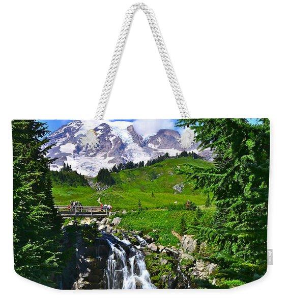 Mt. Rainier From Myrtle Falls Weekender Tote Bag