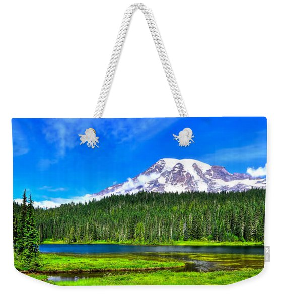 Mt. Rainier From Reflection Lakes Weekender Tote Bag