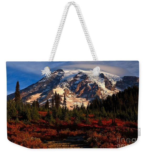 Mt. Rainier Paradise Morning Weekender Tote Bag