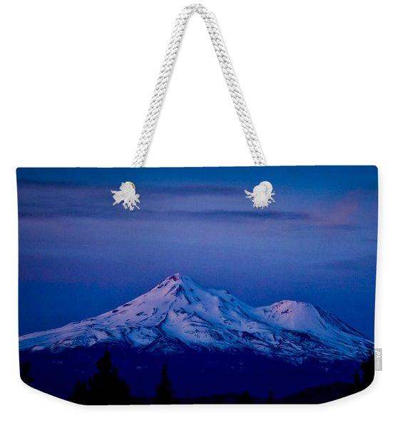 Mt Shasta At Sunrise Weekender Tote Bag