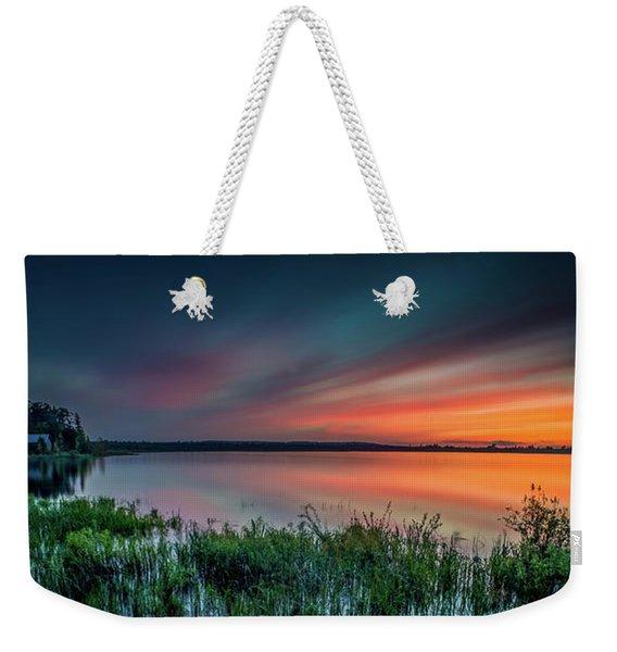 Mud Bay Sunset 4 Weekender Tote Bag