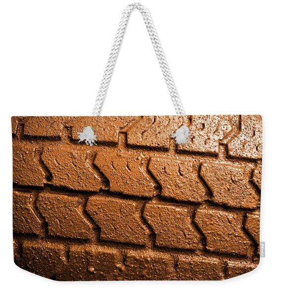 Muddy Tire Weekender Tote Bag