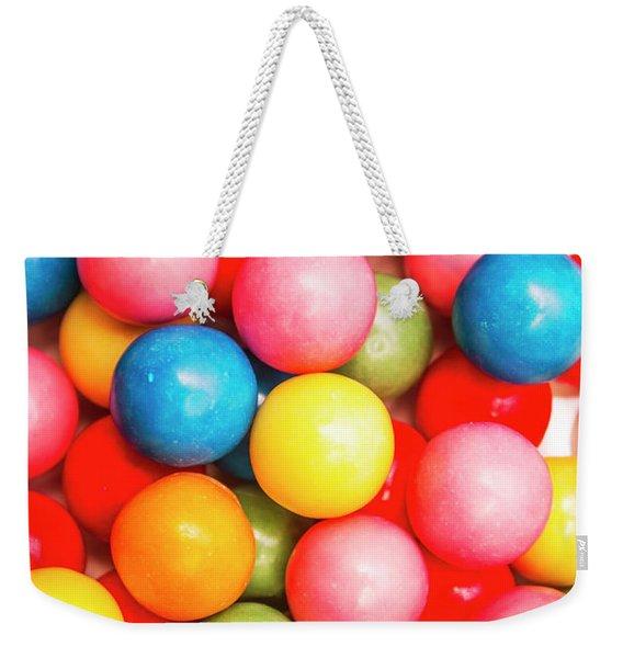 Multi Colored Gumballs. Sweets Background Weekender Tote Bag