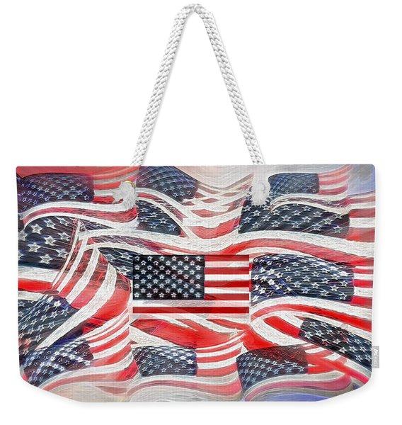 Multi - Flag Abstract  Weekender Tote Bag