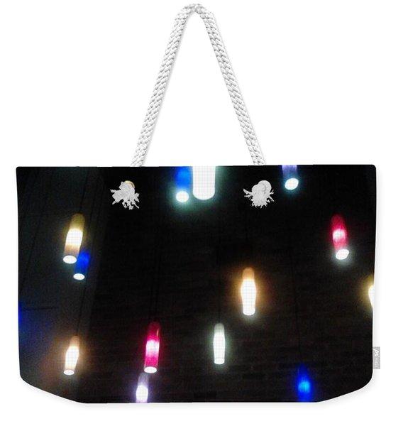 Multi Colored Lights Weekender Tote Bag