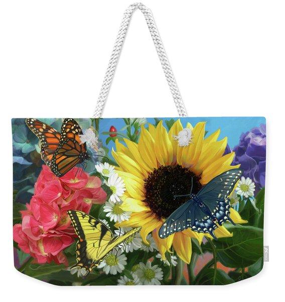 Multicolor Weekender Tote Bag
