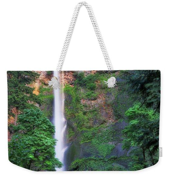 Multnomah Falls Portland Oregon Weekender Tote Bag