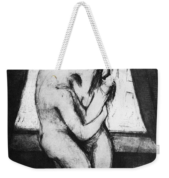 The Kiss, 1895 Weekender Tote Bag
