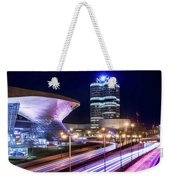 Munich - Bmw City At Night Weekender Tote Bag