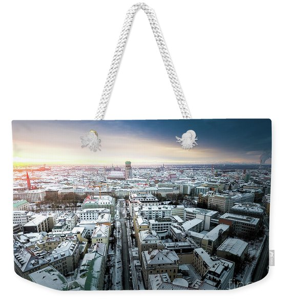 Munich - Sunrise At A Winter Day Weekender Tote Bag