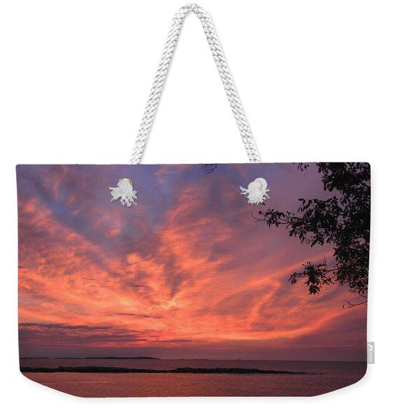 Muscongus Sound Sunrise Weekender Tote Bag