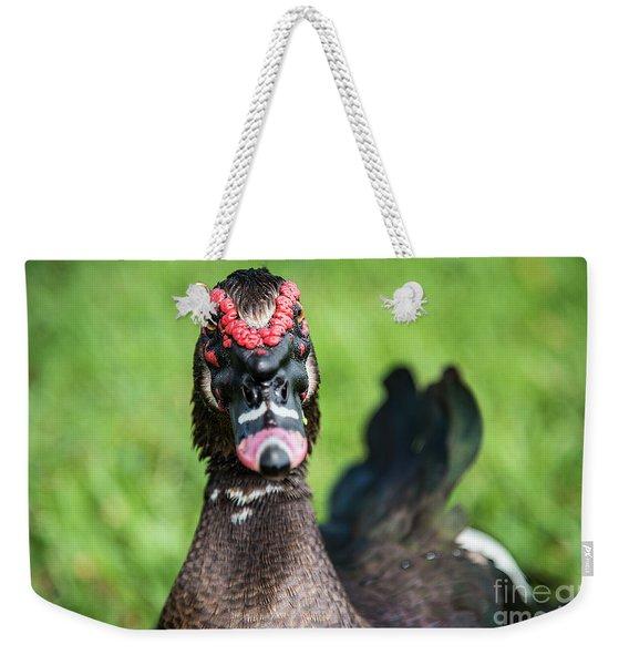 Muscovy Duck-0278 Weekender Tote Bag