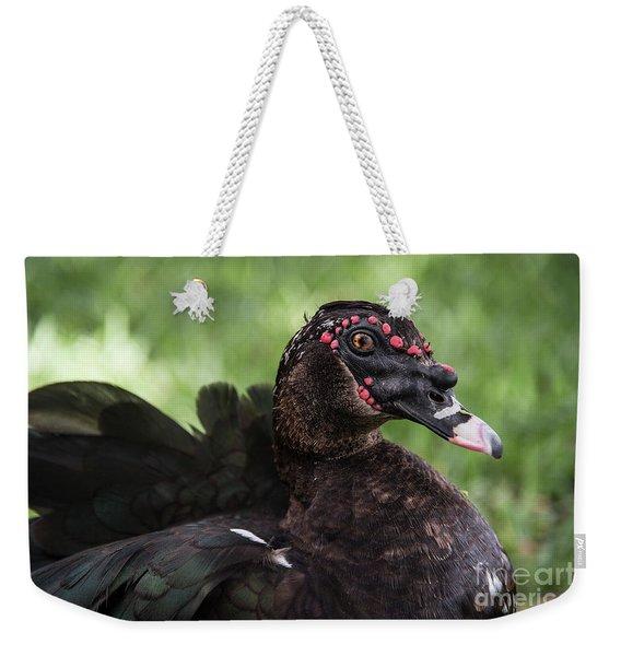 Muscovy Duck-0314 Weekender Tote Bag