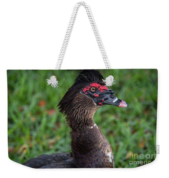 Muscovy Duck-0318 Weekender Tote Bag