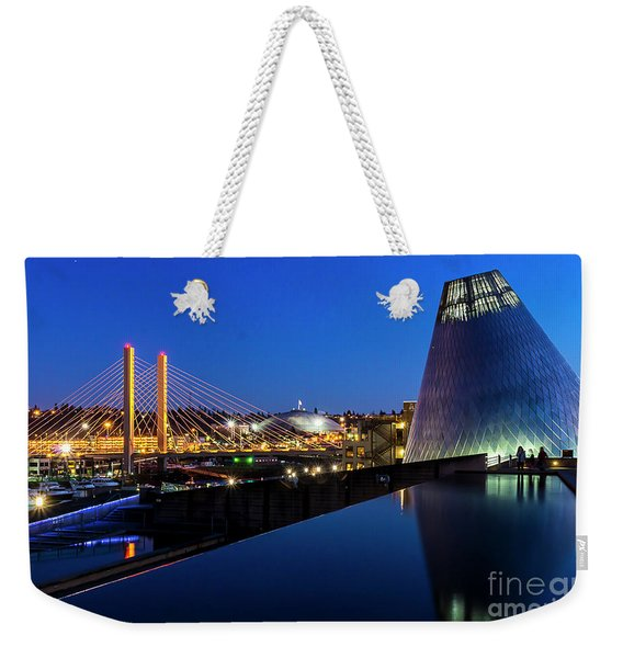 Museum Of Glass At Blue Hour Weekender Tote Bag