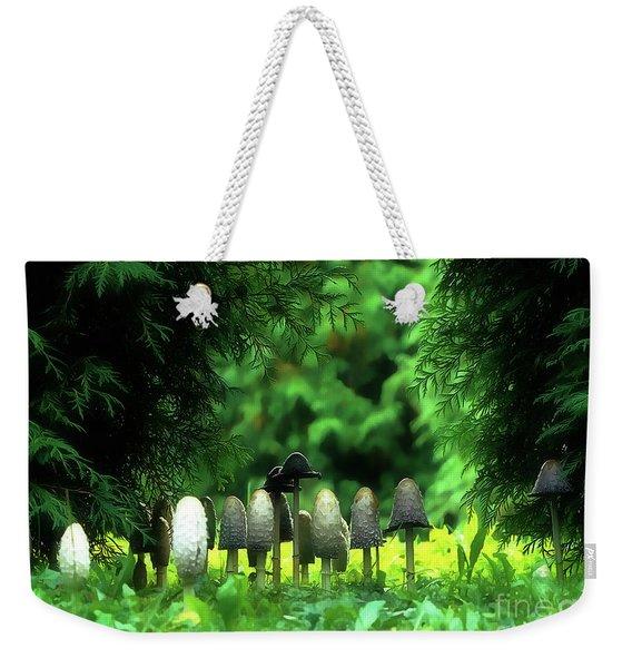 Mushrooms Under The Tree Weekender Tote Bag