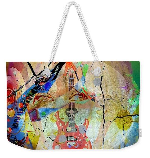 Weekender Tote Bag featuring the digital art Music Girl by Eleni Mac Synodinos