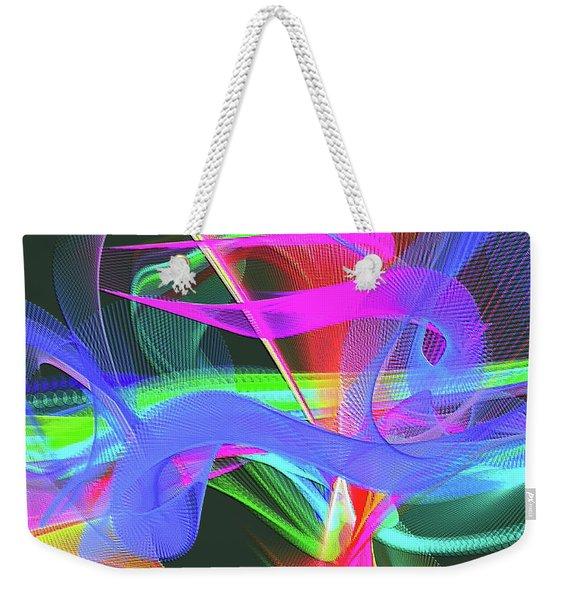 Weekender Tote Bag featuring the digital art Music Note by Visual Artist Frank Bonilla