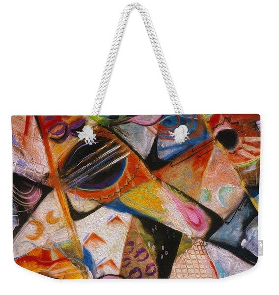 Musical Pastels Weekender Tote Bag