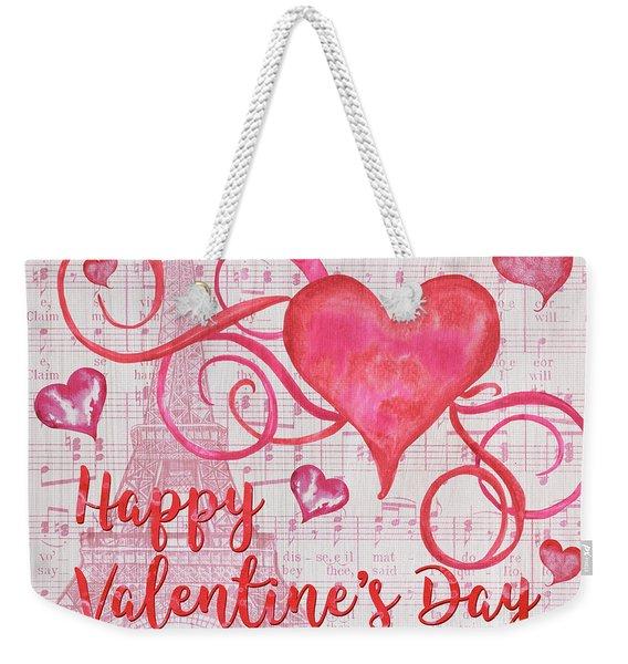 Musical Valentine Weekender Tote Bag