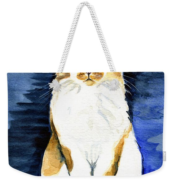 Mustached Bicolor Beauty - Cat Portrait Weekender Tote Bag
