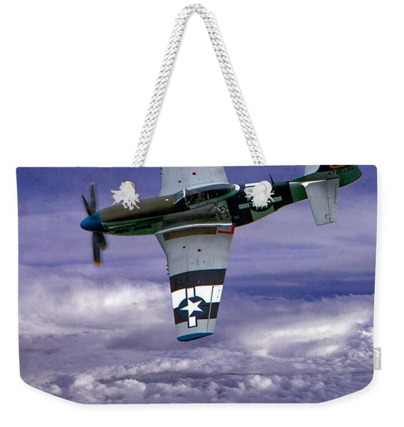 Mustang On Patrol Weekender Tote Bag