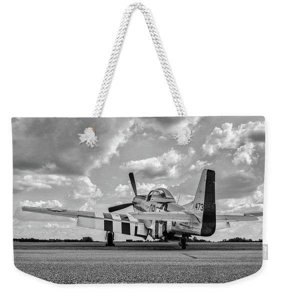 Mustang On The Ramp Weekender Tote Bag