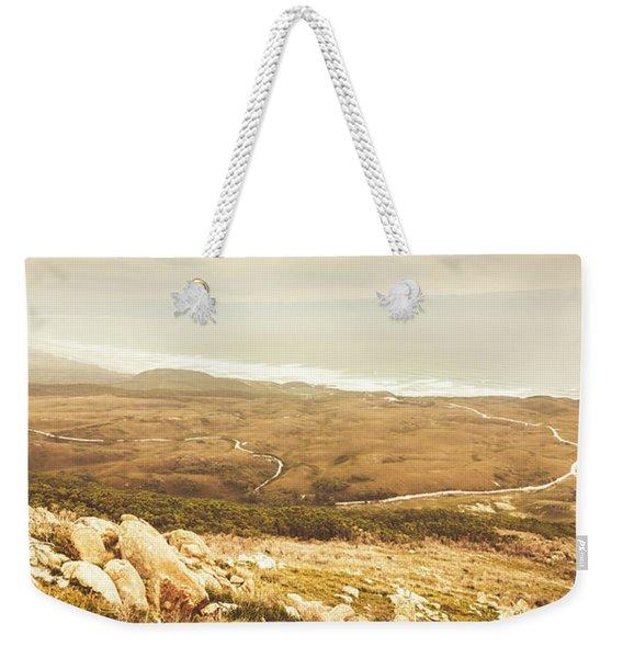 Muted Mountain Views Weekender Tote Bag