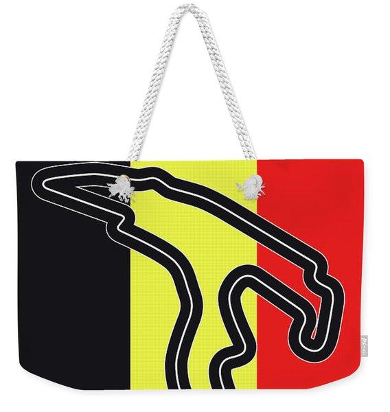 My 2017 Grand Prix De Belgique Minimal Poster Weekender Tote Bag