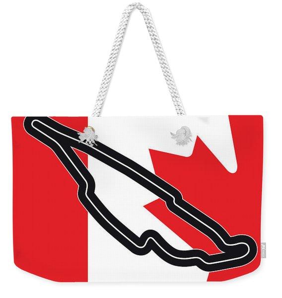 My 2017 Grand Prix De Canada Minimal Poster Weekender Tote Bag