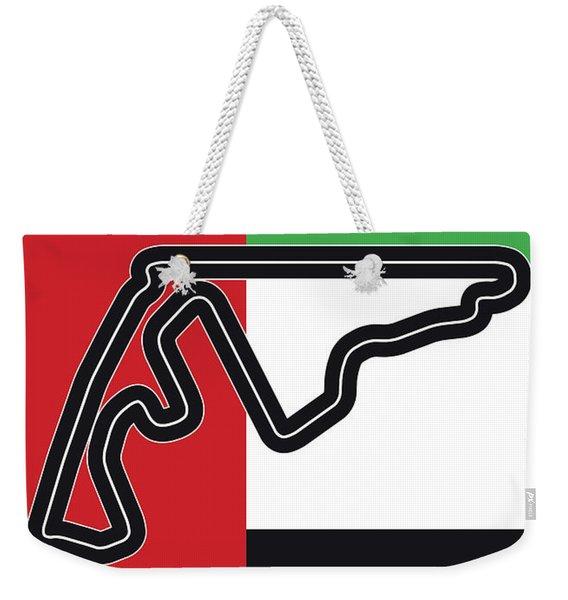 My Abu Dhabi Grand Prix Minimal Poster Weekender Tote Bag