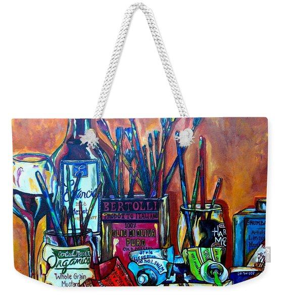 My Art Studio Weekender Tote Bag