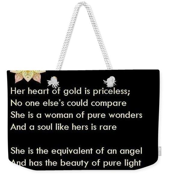 My Beautiful Mother Weekender Tote Bag