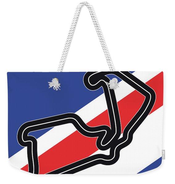 My British Grand Prix Minimal Poster Weekender Tote Bag