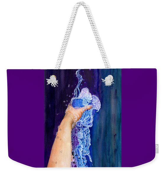 Weekender Tote Bag featuring the painting My Cup Runneth Over by Nancy Cupp