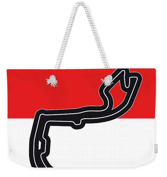 My Grand Prix De Monaco Minimal Poster Weekender Tote Bag