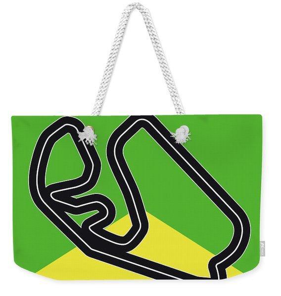 My Grande Premio Do Brasil Minimal Poster Weekender Tote Bag