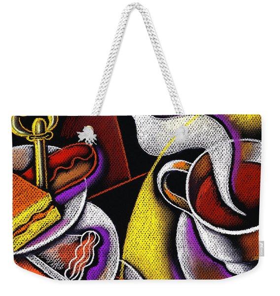 My Morning Coffee Weekender Tote Bag