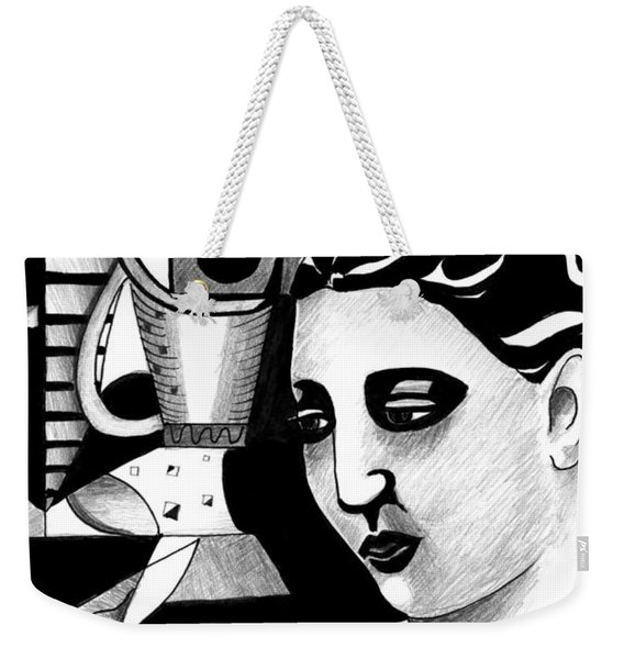 My Outing With A Young Woman By Picasso Weekender Tote Bag