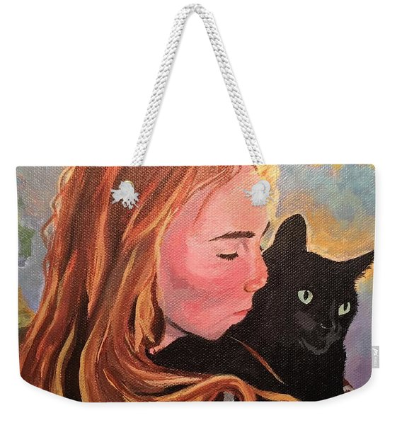 My Purring Friend Whiskers Weekender Tote Bag