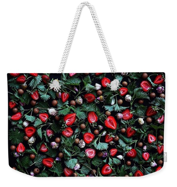 My Real Strawberry Patch Weekender Tote Bag
