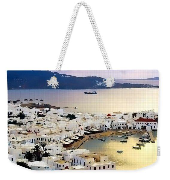 Mykonos Greece Weekender Tote Bag
