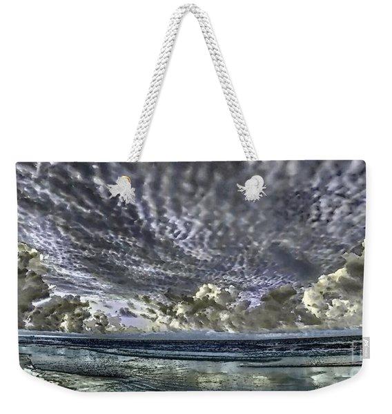 Myrtle Beach Hand Tinted Panorama Sunrise Weekender Tote Bag